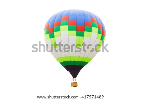 The balloon for flights. isolated on a white background - stock photo