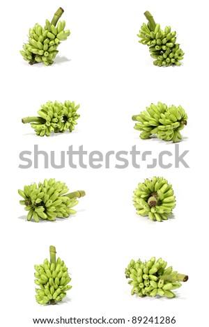 The Bananas isolated on white background - stock photo
