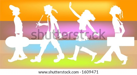 the band - stock photo