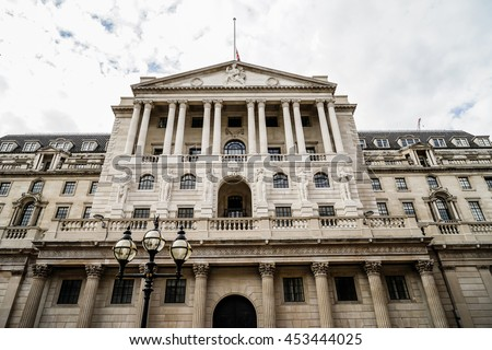 The Bank of England front architecture, City of London, UK