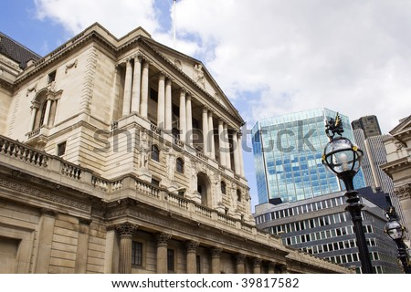 The Bank of England,London, England UK - stock photo