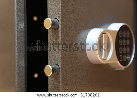 The bank safe with the digital lock - stock photo