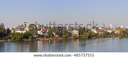 the banks of the main river in Frankfurt-Griesheim