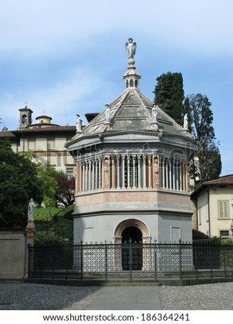 The baptistery chapel of the Santa Maria Maggiore basilica in Bergamo in Lombardy in Italy