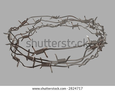 The barbed ware 3d - stock photo