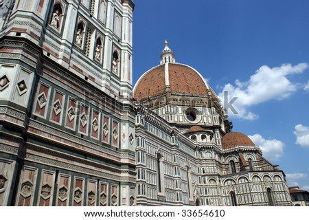 The Basilica di Santa Maria del Fiore which is the cathedral church (Duomo) of Florence in Italy