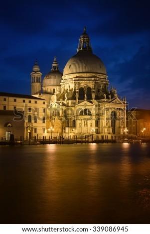 The Basilica di Santa Maria della Salute - Venice - stock photo
