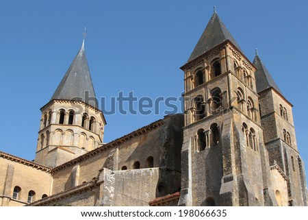 The Basilica of Paray-le-Monial is a Romanesque church in Paray-le-Monial, Bourgogne.