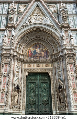 The Basilica of Santa Croce in Florence, Italy - stock photo
