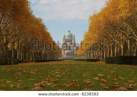 The Basilica of the Sacred Heart in Brussels, Belgium - stock photo
