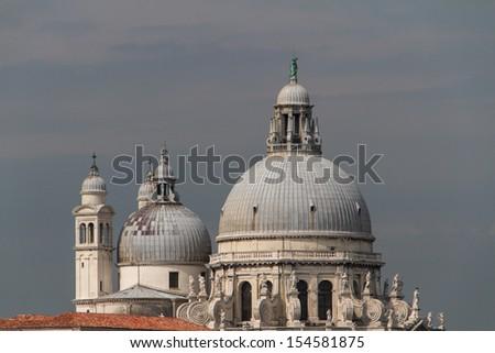 The Basilica Santa Maria della Salute in Venice - stock photo