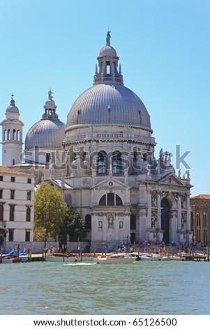 The Basilica Santa Maria della Salute in Venice, Italy - stock photo