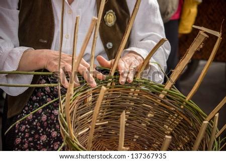 The basket-maker - stock photo