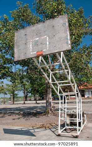 The Basketball court  without  hoop - stock photo