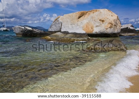 The Baths Beach - stock photo