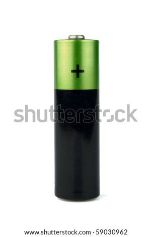 The battery on a white background it is isolated - stock photo