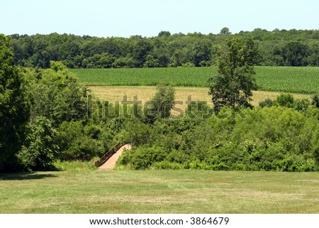 The battle field of Battle of Monmouth in New Jersey - stock photo