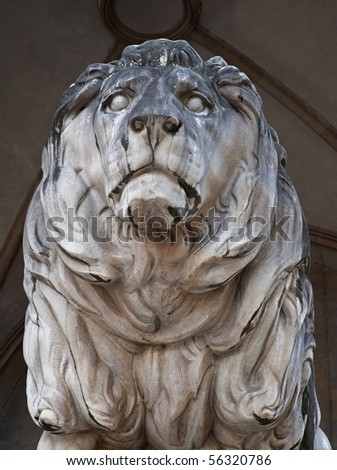 The Bavarian lion in Munich in Bavaria