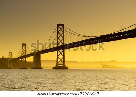 The Bay Bridge in San Francisco - stock photo