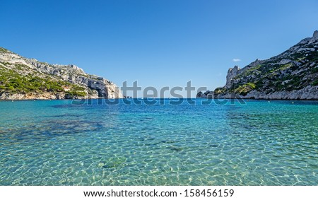 """The bay """"Calanque Sormiou"""" near Marseille in South France - stock photo"""