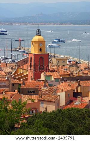 The bay of Saint Tropez - stock photo
