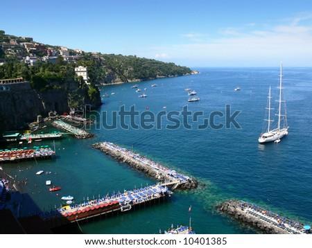 the bay of Sorrento - stock photo