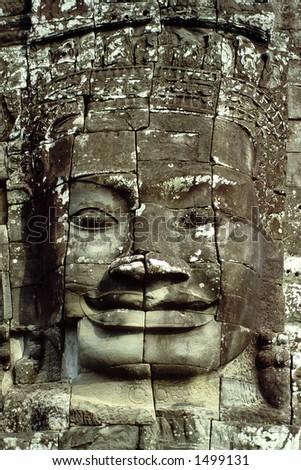 The Bayon - Angkor Wat, Cambodia - stock photo