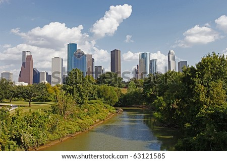 The Bayou City, Houston, Texas. - stock photo