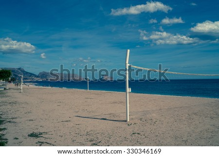 The beach at Altea in Spain in summer.