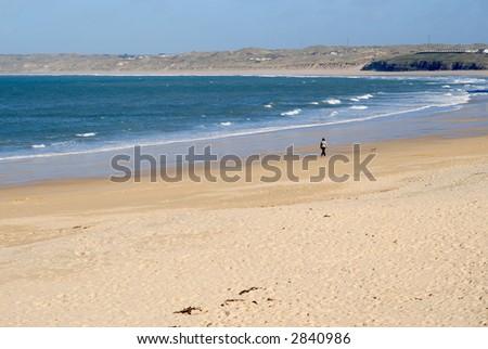 The beach at Carbis Bay, Cornwall, UK. - stock photo