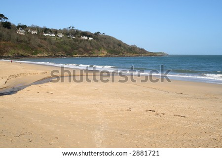 The beach at Carbis Bay, near St. Ives, Cornwall. - stock photo