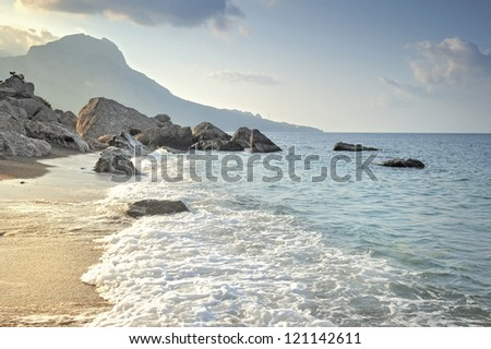 The beach in a Bay of Laspi