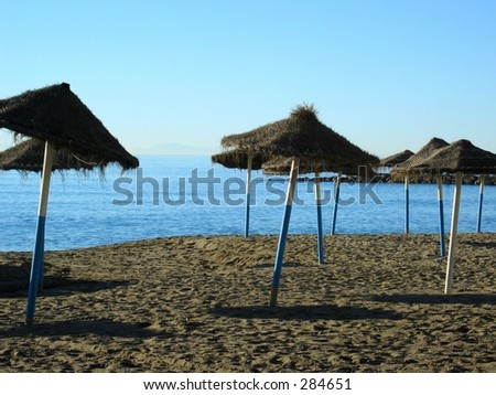 The beach of Marbella / Spain early in the morning...