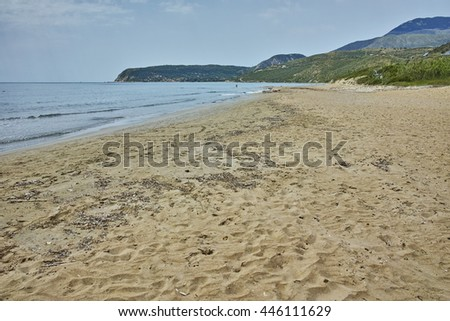 The beach of the Scala Resort, Kefalonia, Ionian Islands, Greece - stock photo