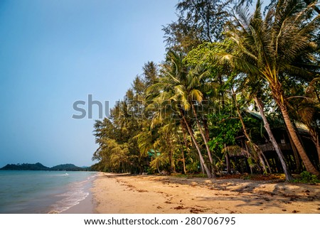 The beach on an exotic island. Background - stock photo