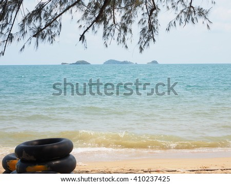The beach on holiday at Rayong province, Thailand