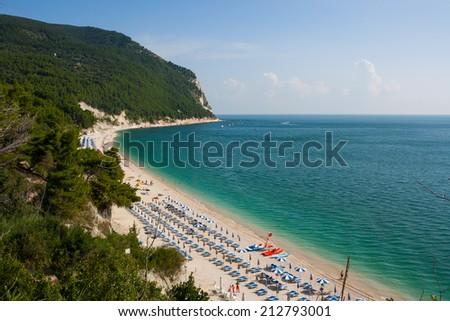 The beaches of Monte Conero - stock photo