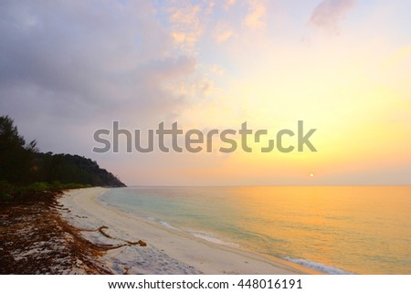The beautiful beach and tropical sea,Koh Adang Island,South of Thailand. - stock photo