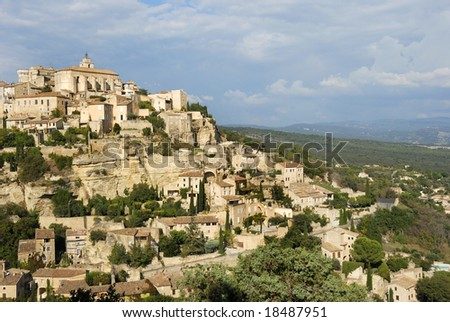 The beautiful city of Gordes in the South of France - stock photo