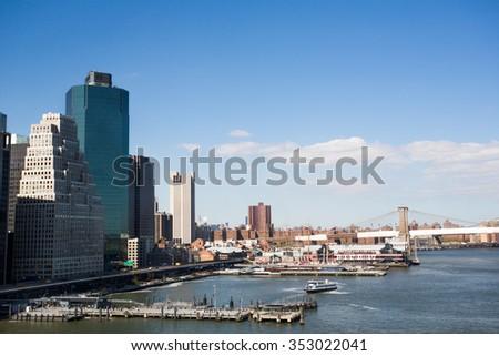 The beautiful city of New York. - stock photo