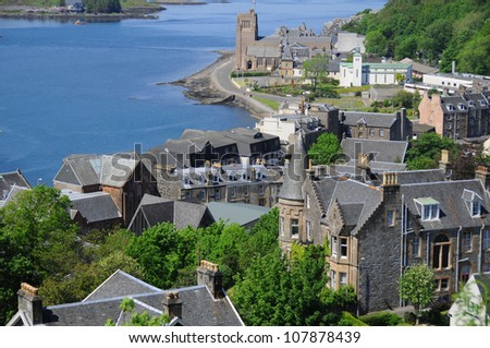 The beautiful city of Oban in Argyll, Scotland, UK - stock photo