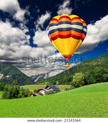 The beautiful countryside of St. Wolfgang in the Lake District in Austria - stock photo