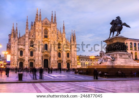 The beautiful Duomo of Milan, Italy. - stock photo