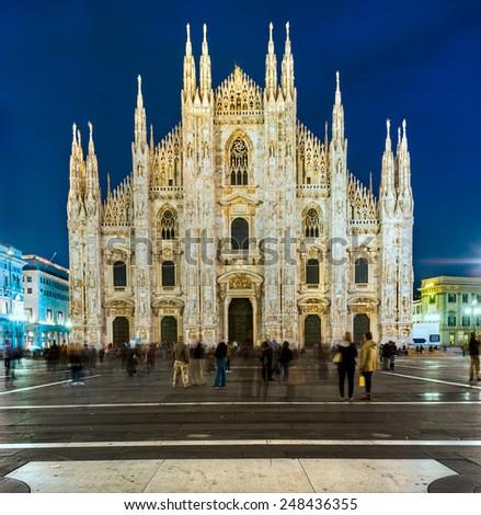 The beautiful Duomo of Milan, Italy. - stock photo