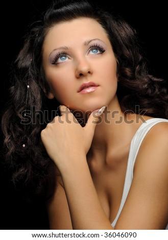 The beautiful girl - stock photo