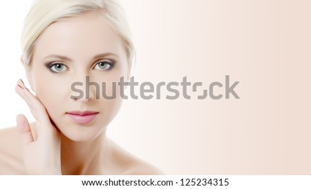The beautiful girl with an evening make-up