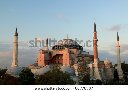The Beautiful Hagia Sofia in Istanbul. - stock photo