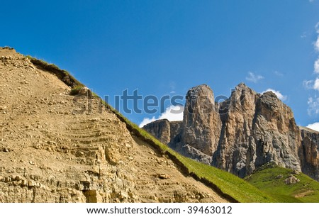 The beautiful hills and mountains that make up the Italian Alps in northern Italy