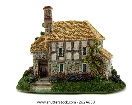 The beautiful house on a white background