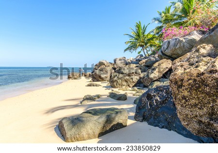 The beautiful island of Nosy Komba Madagascar - stock photo